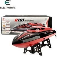 E T RC Boat H101 2.4GHz High Speed 30km/hour 360 degree flip with Servo Remote Control boat with double battery toys for boy