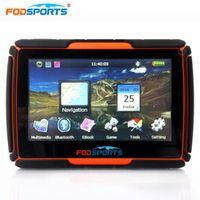 Fodsports 4.3 Inch motorcycle bluetooth motorbike GPS navigator waterproof 256MB 8GB
