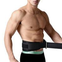 LumiParty Adjustable Leather Weight Lifting Fitness crossfit Belt lifting strap Support Stainless lock jaw Gym Fitness Guard