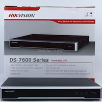 Free Shipping DHL Hikvision DS-7616NI-I2/16P 2SATA and 16POE ports NVR plug& play H.265 Hikvision 16CH Network NVR