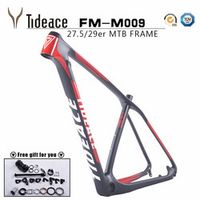 Tideace UD black Chinese MTB 29er 27.5 mountain bike frame 650B disc carbon fiber 29