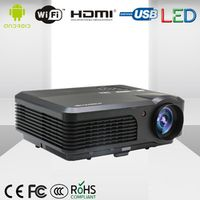 CAIWEI Indoor Outdoor LCD 1080P Digital HDMI LED WIFI Home Theater Projector for home