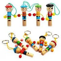 schnappy 1Pcs Boy Pirate Wooden Educational Toys Whistle