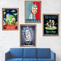 lanxihaibao Rick and Morty Coated Paper poster