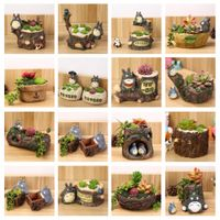 SIBAOLU Pastoral Style Succulents Resin Craft Lovely