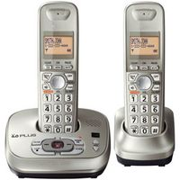 vtelecom 2 Handsets KX-TG4021 digital Cordless Phone with Answering System Dect-6.0