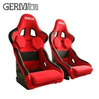 GERMRUN 2 Pcs/Set High quality Bucket Black Carbon fiber Red Sport Racing Car Seat