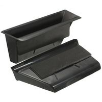 Autoleader Pair Black Car Front Door Armrest Storage Box Container For Mercedes-Benz