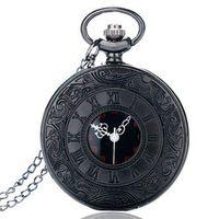 YISUYA Vintage Charm Black Unisex Roman Number Quartz Man