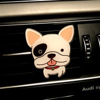 sikeo Car-styling Cute Dogs Shape Air Freshener Solid Fragrance Auto Decors Car Air