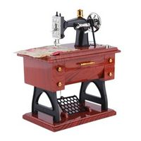 1Pc Mini Vintage Lockwork Sewing Machine Music Box Kid