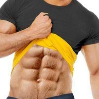 Natural Weight-Loss Neoprene Detox Hot Workout Body Shapers T-Shirt Men Sweat More Fat Burning Waist Trainer Workout Body Shaper