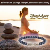 Sumifun Sacred Arrow Lava Stone Magnet Black Magnetic Therapy Bracelet Anklet