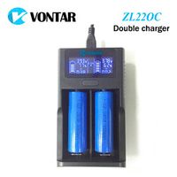 VONTAR LCD USB Battery Charger Smart for 26650 18650 18500 18350 17670 16340 14500