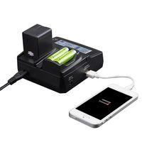 LVSUN Universal Phone AA Car Camera NP BG1 NPBG1 Charger For Gopro Hero 5 Sony NP-BG1