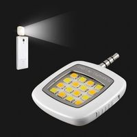 Mobile Phone LED Flash Light Adjustable Fill light For iPhone 7 6s and Android Phones Mini Selfie Sync Flashlight 16 LED Lights