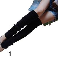 SANWOOD Warm Women Plain Knitted Leg Warmers Stocking Dual