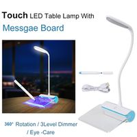 coolo Portable Touch Control Night light Table lamp with Fluorescent Message Board