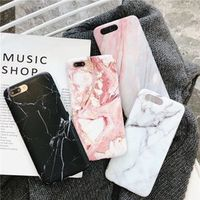IMIDO Luxury Marble Phone Case 7 Case For iPhone X 7 6 6S 8 Plus 6 S Cover XR XS MXA