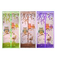 4 Color Curtain Durable Anti Mosquito Magnetic Tulle Door Curtain Automatic Closing Door Screen Summer Mesh Net 90/100*210cm