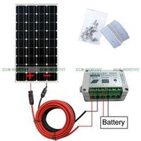 ECO-WORTHY Off Grid Kit 100W Mono Solar Panel with 15A Controller for 12V Battery