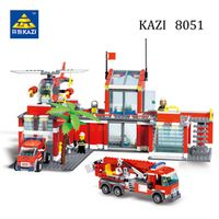 KAZI Fire Station Department Rescue Truck Car Helicopter