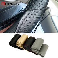 Karlor Braid On Car Steering Wheel Cover With Needles and Thread Artificial leather