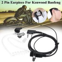 Autoleader For KENWOOD BAOFENG HYT 2 Pin Clear Acoustic Tube Earpiece Security