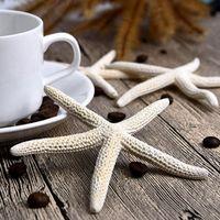 ISHOWTIENDA 1 Piece 10-12cm White Finger Starfish Craft