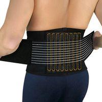 Durable Black Waist Support Brace Belt Lumbar Lower Waist Double Adjustable Back Belt For Pain Relief Health Care Back Support