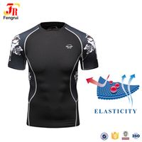 Cody Lundin Men Rash Guards Running Sportswear Compression Fitness Printing T-Shirts With Wolf & Skull Designs For Male Workout