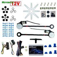 MOTOBOTS Car Auto Universal 2-Doors Electric Power Window Kits with 3pcs/Set Switches