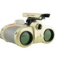 JASLE 4 x 30 Day Night Vision Viewer Spy Surveillance Scope Binoculars with POP Up