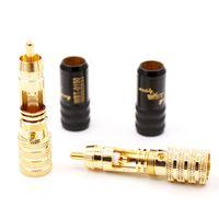 Moonsaudio 100pcs Factory Hifi WBT-0150 Screws Soldering RCA Connector Plugs 11MM