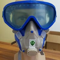 Silicone SJL  gas mask pesticide pintura full face carbon filter mask paint spray gas box protect mask