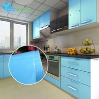 YUNPOINT European Self adhensive Wallpaper Paint Flash PVC Wall paper Kitchen
