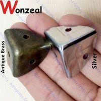 Wonzeal 12pcs 25mm Decorative Antique brass/Silver style metal protection Jewelry
