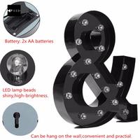 TMOEC 33x27x5cm LED Wooden Letters Light Fairground-Style