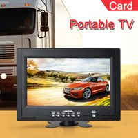 CARSOLJ Televisions 9 inch TFT LCD AV IN Color Analog Portable TV Support Card