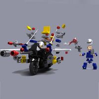 UCanaan Transmoto New Interlocking Bricks RC Motorcycle Electric Remote Control Charge Car Toys Puzzle Assembly Educational Toy
