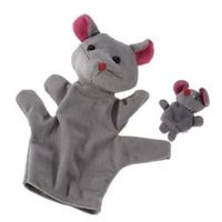 Kacakid Grey Mouse Hand Puppet Finger Puppets