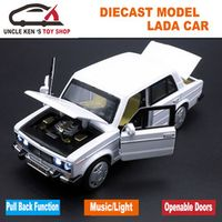 1/32 Diecast Scale Model Russian Lada Cars Replica Metal