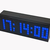 CHkosda Desktop LED Digital Alarm Wall Clock Large