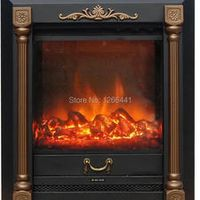 burner electric fireplace insert warm air blower remote controlled artificial optical