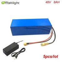 Risklight 5pcs/lot Long-Time electric bike battery 48v 8ah battery pack for bafang
