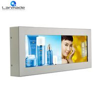 Lanmade 14.9inch split screen bar type lcd advertising digital display