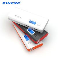 PINENG PN-968 10000mA Dual USB Input Portable Mobile Power Bank with LED Display