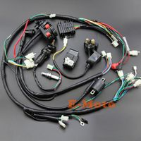 Full Wiring Harness Loom Ignition Coil CDI NGK For 150cc 200cc 250cc 300cc Zongshen Lifan ATV Quad Buggy Electric Start Engine
