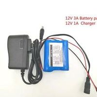 PINTTENEN 12 V 3000 mAh 18650 Li-ion Rechargeable battery Pack for CCTV Camera 3A