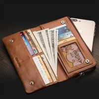 QIALINO holster for iphone 7 plus Handmade Genuine Leather Wallet Case for iPhone 6s